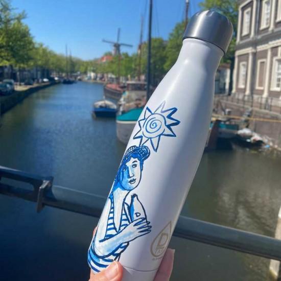 Schiedam blue d-tap bottle jacques tange ontwerp