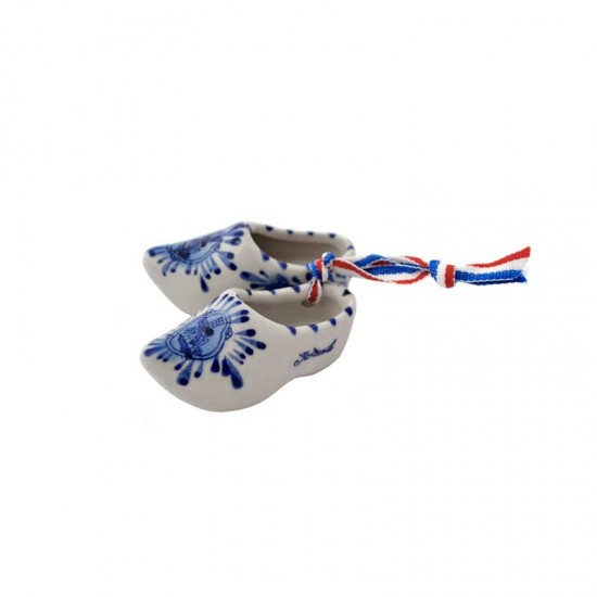 Keramik holzschuhe delfter blau mühle holland 7 cm