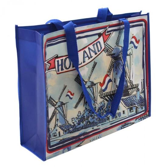 Shopper holland molens blauw