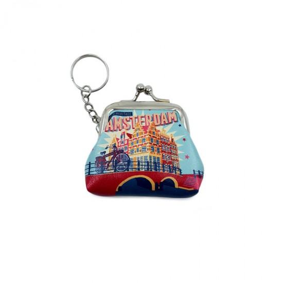 Sleutelhanger Amsterdam portemonnee