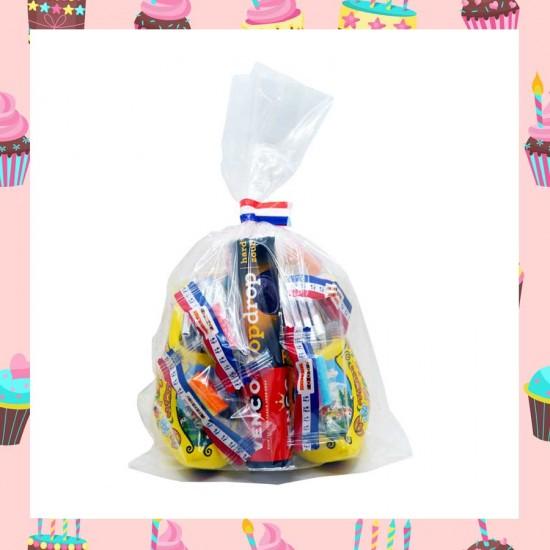 Süßigkeitenbeutel mit Holzclogs