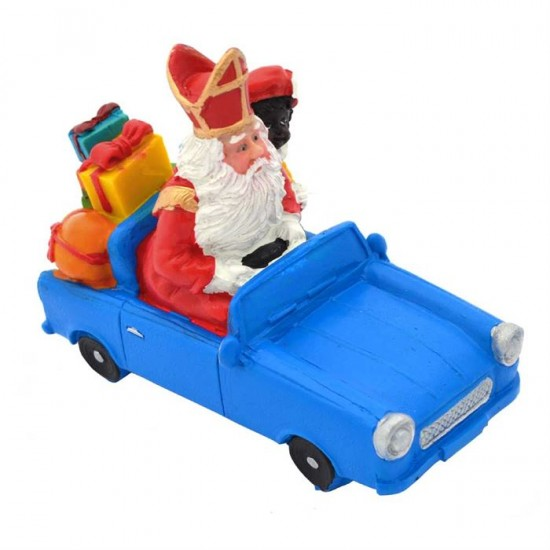 Figurine saint nicolas and pete in car
