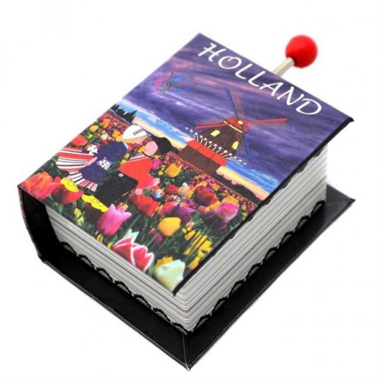 Spieluhr Küssendem Paar Mühle Tulpen Holland Buch