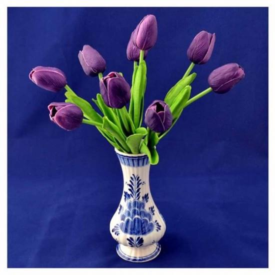 Bosje kunst tulpen paars 34 cm
