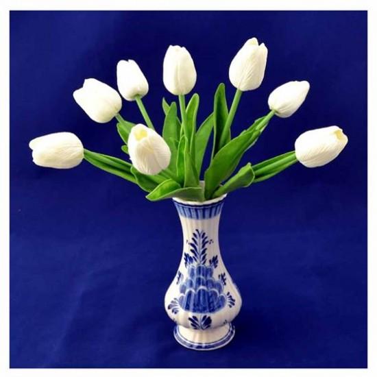 Bündel künstlichen Tulpen Weiss 9 Stück