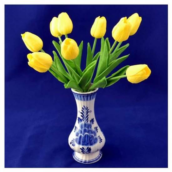 Bosje kunst tulpen geel 34 cm