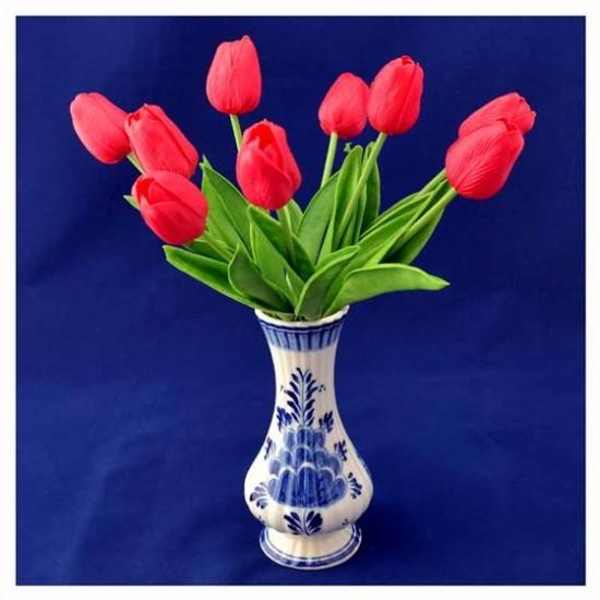 Bosje kunst tulpen rood 34 cm