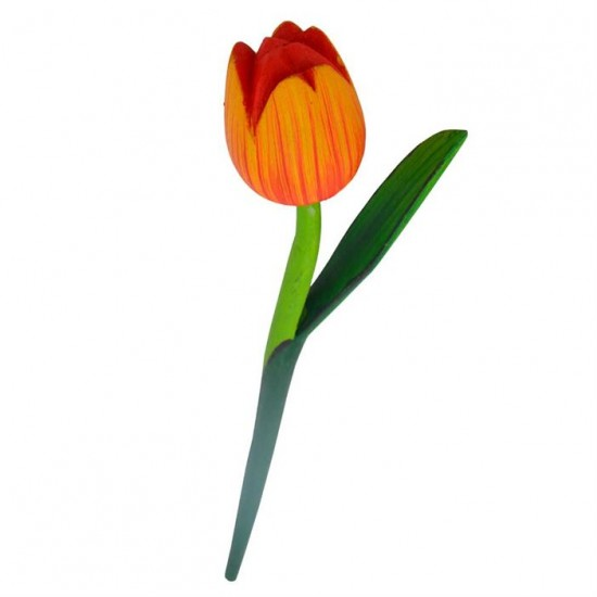 Wooden tulip yellow orange 36 centimeters