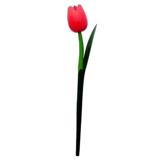 Houten tulp rood  36 centimeter