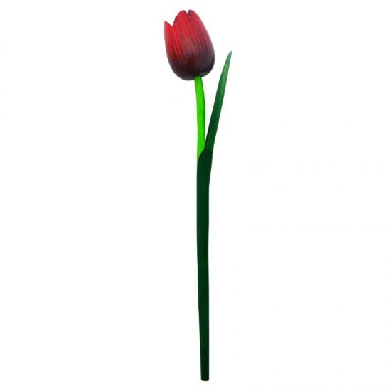 Houten tulp rood zwart 36 centimeter