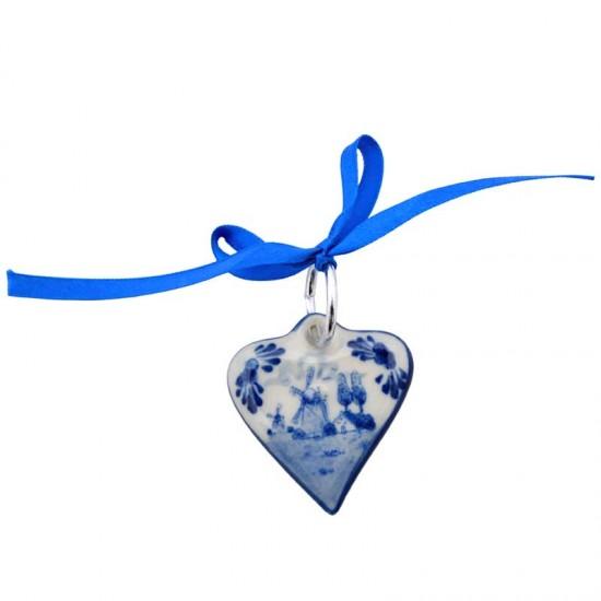 Kerst hart delfts blauw