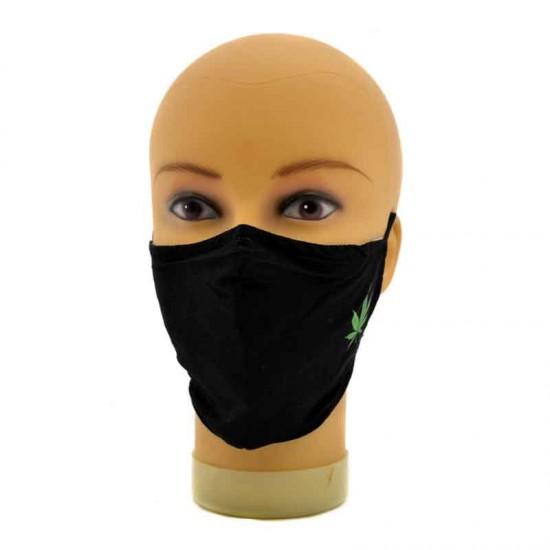 Verstellbare mundmaske mit aufdruck cannabis city amsterdam
