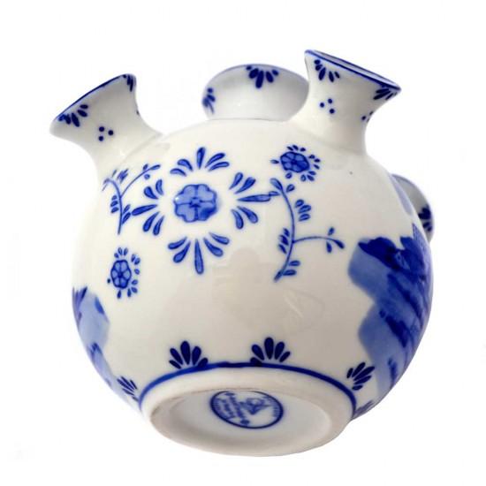 Tulip vase mini delft blue windmill