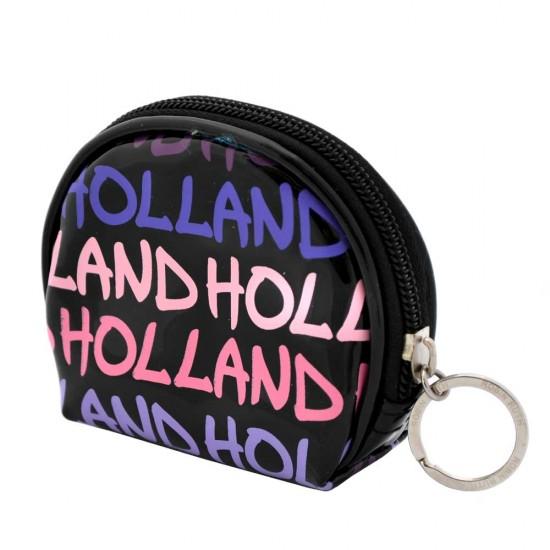 Dames pocket portemonnee lak Holland paars