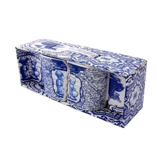 Duo mokken kussend paar Delfts blauw Geschenk set