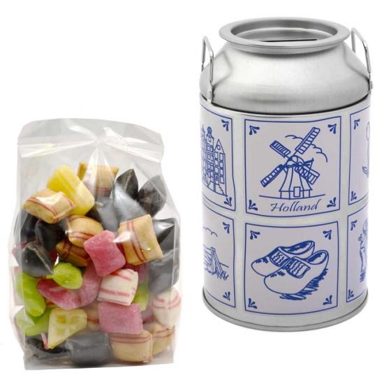 Spaarpot melkbus oud hollandse snoep mix