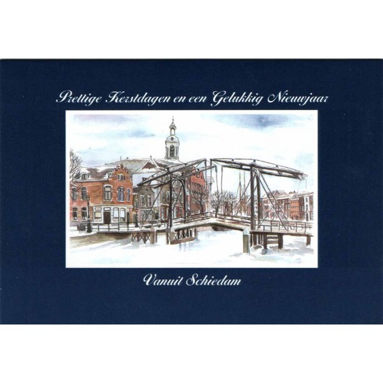 Christmas cards set schiedam windmills