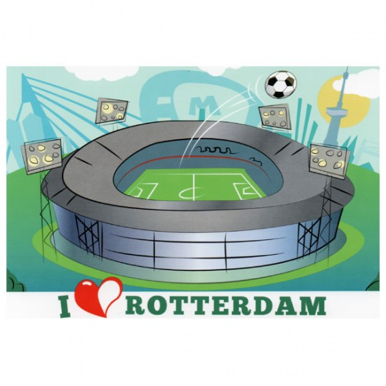 POSTCARD PHOTO ROTTERAM KUIP NIGHT VK02