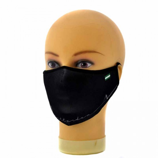 Face mask rotterdam symbols black
