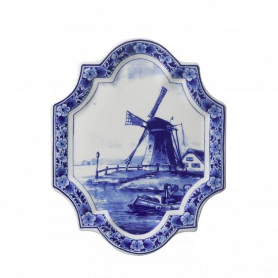 APPLIQUE DELFT BLUE WINDMILL 18 x 23 CM
