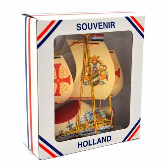 Holz schuhe segelboot 11 x 14 cm