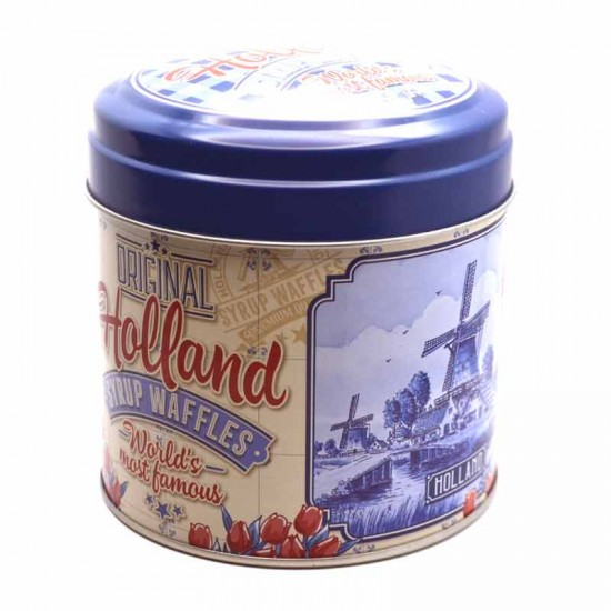 Syrup waffles in original holland tin