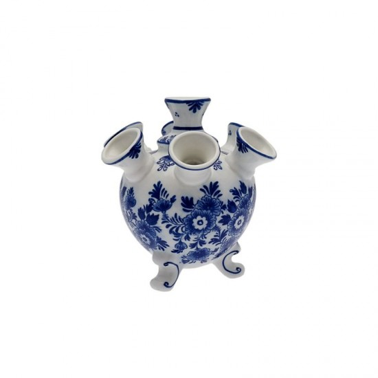 Delft blue tulip vase 7 arms flower decoration small