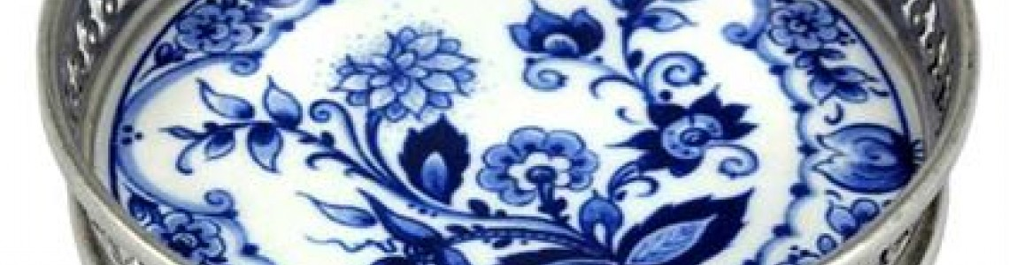Delft blue Trays and wine coasters