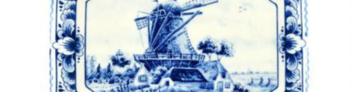 Traditionelle Delfter Blau