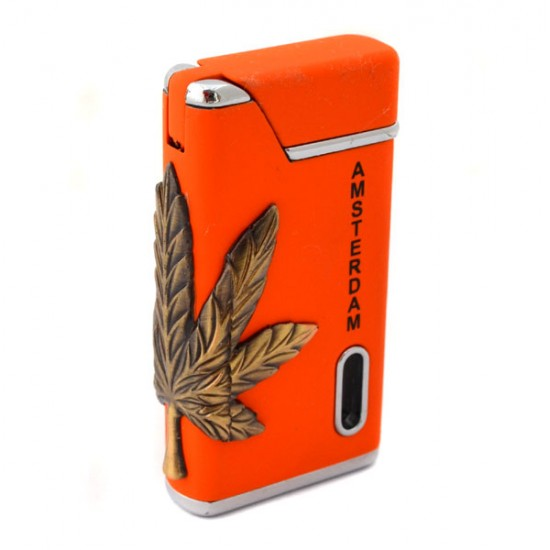 Torch lighter amsterdam cannabis weed orange
