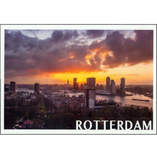 POSTCARD PHOTO ROTTERAM SUNSET SKY ANTHONISZ VK06