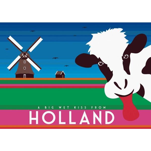 Postcard big wet kiss from holland modern postcards and calendars postcard big wet kiss from holland modern dutch gifts m4hsunfo