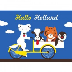POSTCARD HALLO HOLLAND BICYCLE MODERN