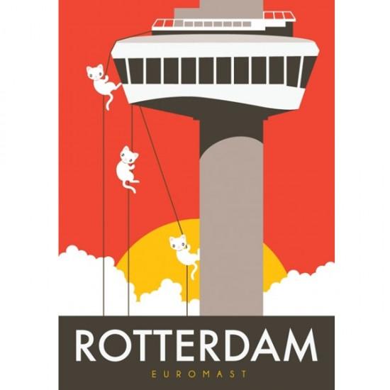 Ansichtkaart rotterdam euromast modern