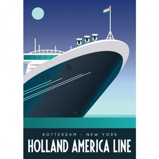 Postcard holland america line rotterdam modern