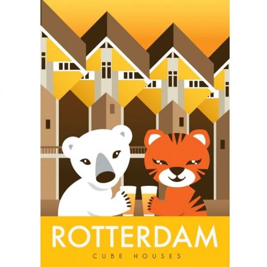 Ansichtkaart rotterdam kubuswoning modern