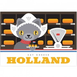 POSTCARD BIG SAY CHEESE HOLLAND MODERN