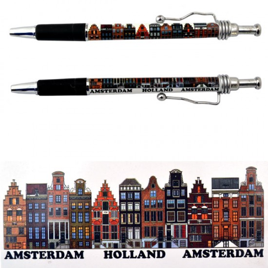 BALLPOINT AMSTERDAM CANAL HOUSES HOLAND