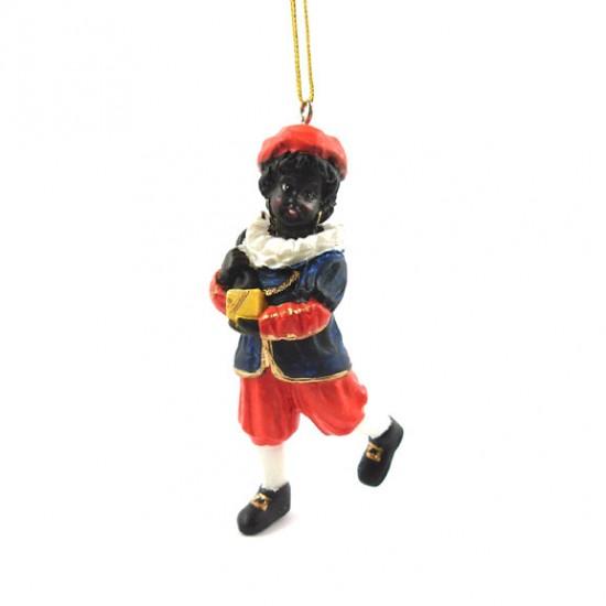 Knecht mit tasche polystone statue hängen 9 cm