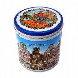 STORAGE TIN DELFT CANAL HOUSES AMSTERDAM COLOR