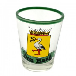 SHOT GLASS STORK LOGO THE HAGUE