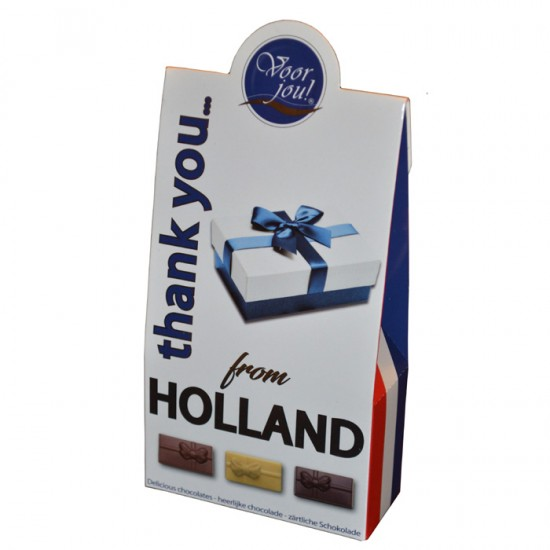 VOOR JOU HOLLAND CHOCOLATE GIFT BOX THANK YOU