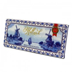 CHOCOLATE BAR GREETINGS FROM HOLLAND DELFT BLUE