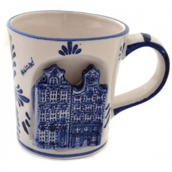 MUG DELFT BLUE CANAL HOUSES 3D FLOWER