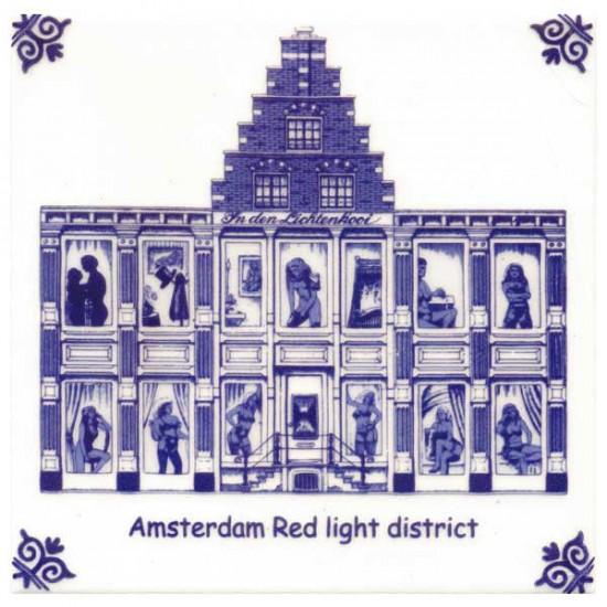Delfts blauw tegel amsterdam red light district modern