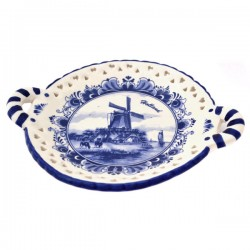 BON BON DISH DELFT BLUE WINDMILL HOLLAND