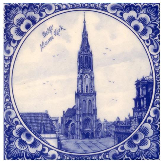 Tegel delfts blauw delft nieuwe kerk 15 x 15 cm