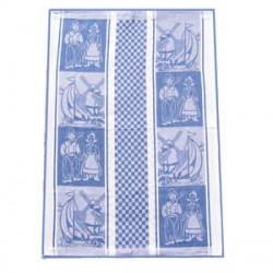 DISH TOWEL WOVEN BLUE 50-75 CM