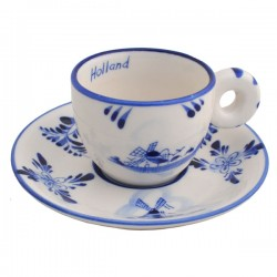 ESPRESSO CUP AND SAUCER DELFT BLUE