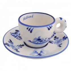 ESPRESSO CUP AND SAUCER DELFT BLUE